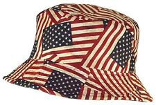 Tropic Hats Adult Americana/American Flag Lightweight Bucket #998 American Flag