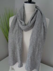 Royal Speyside Grey Knitted 100% Cashmere Knit Scarf - Made in Scotland