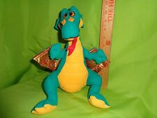 funny green Dragon From ACME Stuffed Animal toy doll plush