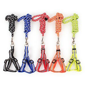 Step-in Safety Nylon Reflective Dog Puppy Adjustable harness ,lead set S,M,L
