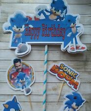 Sonic the hedgehog Cake Banner and topper set