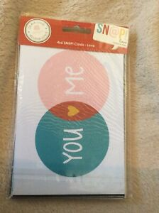 SN@P! Love (24) Double Sided 4x6 Cards scrapbooking (48) Designs Papercrafts diy
