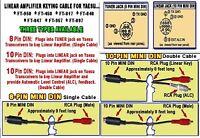 8-PIN MINI DIN YAESU KEYING CABLE FT-950 FT-450 FT-857 FT-897 ft-817 ft-847 ETC.