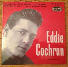 RARE FRENCH EP EDDIE COCHRAN HALLELUJAH I LOVER HER SO