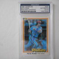 Pete Rose signed 1981 DONRUSS PHILADELPHIA PHILLIES  Baseball Card #251 PSA/DNA