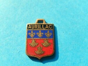 MEDAILLE Pendentif  BLASON EMAIL AURILLAC LYS coquille saint JACQUES COMPOSTELLE