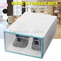 1Pc Clear Drawer Shoe Box Stackable Storage Case Organizer Foldable  AU1 L0