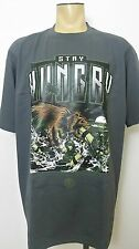 STAY HUNGRY Streetwise Clothing Men's Gray T Shirt Sz 3XL Urban Street Wear New