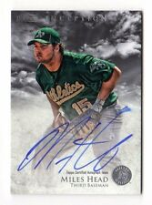 MILES HEAD MLB 2013 BOWMAN INCEPTION PROSPECT AUTOGRAPH (OAKLAND ATHLETICS)