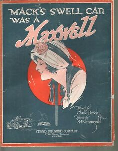 Mack's Swell Car Was A Maxwell 1915 Large Format Sheet Music