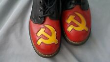 "Russian USSR Hammer & Sickle Dr. Martens boots ""Go Go dancer"" Limelight Club NYC"