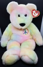 "TY 1999 LARGE 21"" PEACE the BEAR  BEANIE BUDDY - MINT with Damaged Tag - RARE!"