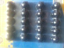 caches capuchons ecrous de roues jante alu 17 mm noir SKODA SUPERB 3T4
