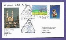 Flugpost-Kolumbien-Lufthansa Erstflug-Bogota--Quito-