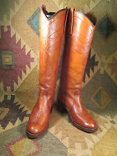 Made in Usa Miss Capezio Vintage 70's British Tan Western Boot Size 5.5 M