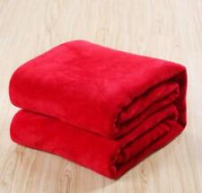 Super Soft Warm Solid Micro Plush Fleece Blanket Throw Rug Sofa Bedding Winter