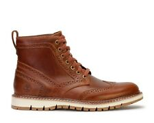 Timberland Britton Hill Wingtip Boot # TB0A1MH3 Brown Leather Men SZ 8.5