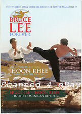 "BRUCE LEE FOREVER Fold-Out Poster-Magazine ""JHOON RHEE Dominican Republic Visit"""