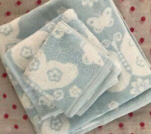 NEW Pottery Barn Kids  BUTTERFLY BLUE   3 pc TOWEL SET! ~ONLY~