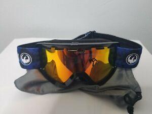 Boys DRAGON Snow Goggles Blue 44mm Cylindrical Luma Lens