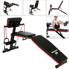 Indoor Folding Weight Bench Gym Lifting Dumbbell Abs Chest Press Adjustable
