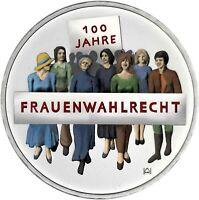 Deutschland 20 Euro 2019 Frauenwahlrecht Gedenkmünze bankfrisch in Farbe