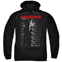 David Bowie Sweatshirt New Cotton Black Pullover Hoodie STATION Sizes SM - 2XL
