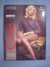 Conte Fantasy Marcella Curly Pattern Pantyhose Size 4 in Purple