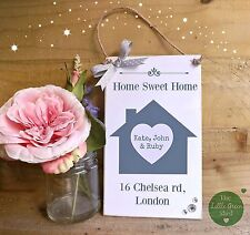 House plaque, Family Sign, New Home, Housewarming Gift, Personalised keepsake