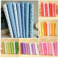 7Pcs Assorted Fat Quarter Bundle Quilt Quilting Cotton Fabric Sewing DIY Set US