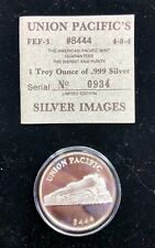 Union Pacific's #8444 Denver CO .999 Silver 1 oz coin by Silver Images