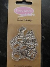Fizzy Moon..with Love by Trimcraft  Clear Stamp - Party hat and Cake