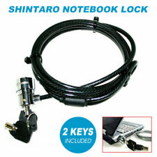Genuine Shintaro Notebook Cable Lock OEM Extra Strength Anti-theft 2 Keys