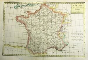 1781 Bonne Map of France