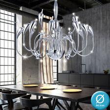 Luxus Chrom Kronleuchter Wohn Zimmer Pendel Lüster Decken Hänge Lampe Ø 84,5 cm