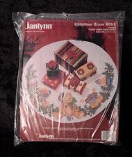 "Janlynn TEDDY BEAR TREE SKIRT Christmas Cross Stitch Kit 149-04 45"" Noahs Arc"