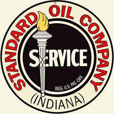 Large Format Indiana Standard Oil Sign 24X24 Round