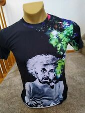 AIDEAONE Psychedelic Einstein Cotton Spandex Size Medium Tee Shirt