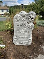 Halloween Blow Mold Tombstone Light Up Decoration