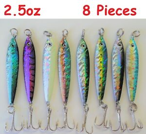 8 pcs 2.5oz Butterfly Metal Mega Live bait Jigs Saltwater Fishing Lures-8 Colors