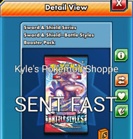 50 Battle Styles Codes Pokemon TCG Online Booster Pack SENT IN-GAME FAST