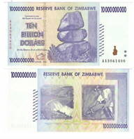 UNC ZIMBABWE $10 Billion Dollars (2008) P-85 from the $100 Trillion bill series
