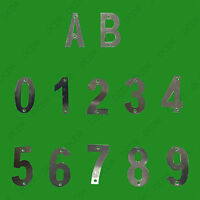"""1x 3"""" Chrome Plated Metal House Door Gate Flat Apartment Numbers, 0 - 9, A - B"""