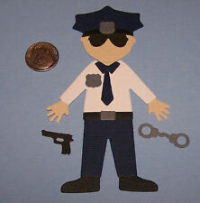 1 Police Officer Premade PAPER Die Cuts / Scrapbook & Card Making