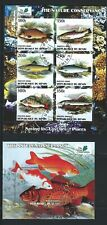 BENIN  THE NATURE CONSERVANCY  FISH 6 STAMPS AND Ss