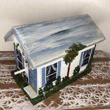 Hand Painted Bird House Beautiful Garden Decor