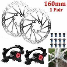 MTB Road Bike Bicycle 160mm Mechanical Rotor Front Rear Disc Brake Caliper Lock