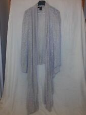 DKNY JEANS SCARF BLOUSE S SILVER WHITE Acrylic Spandex NWOT