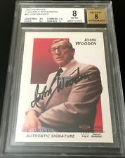 John Wooden certified autograph signed auto 1992 Courtside Flashback BGS 8 UCLA
