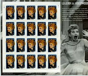 LUCILLE BALL RED EYE USA #3523 34 Cent 2001 LEGENDS OF HOLLYWOOD STAMP SHEET